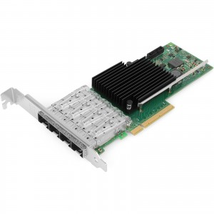 Intel X710-DA4 10GbE Network Interface Card (NIC), PCI Express 3.0 X8, Quad SFP+ Port Fiber Server Adapter, XL710BM1 Chipset, 8.0 GT/s, x 8 Lane, Support Windows Server/Linux/VMware ESXi